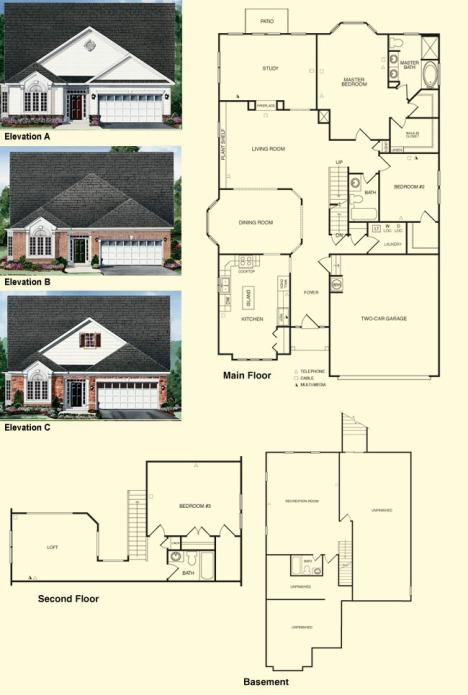 danbury-ii Colonial Heritage Floorplans Williamsburg Va Real Estate