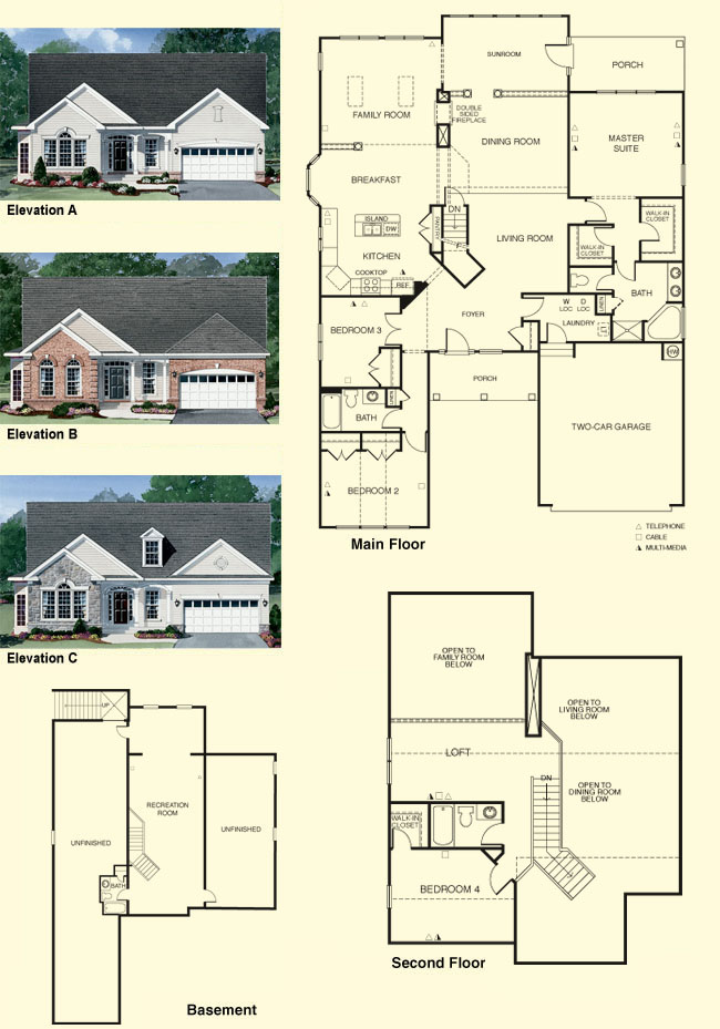 Colonial Heritage Williamsburg VA Real Estate Floor plans Mr