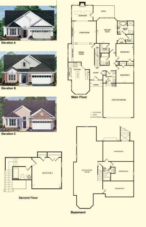 oakleaf II  Colonial Heritage Floorplans Williamsburg Va Real Estate