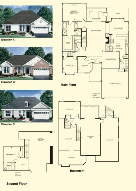 tigerlily- II  Colonial Heritage Floorplans Williamsburg Va Real Estate
