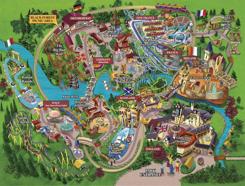 Busch Gardens Williamsburg Williamsburg VA I Will Always Favor - Map of us wiliamburg virginia