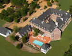 Aerial View of Wemore Place a Country Hotel In Williamsburg VA