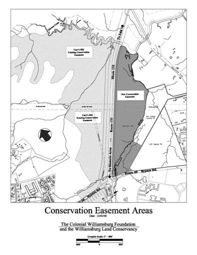 map of conservation area Williamsburg VA