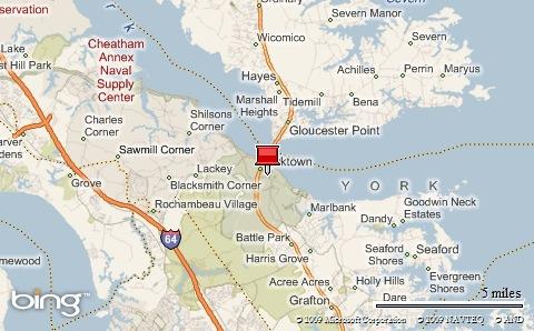 Yorktown VA Map
