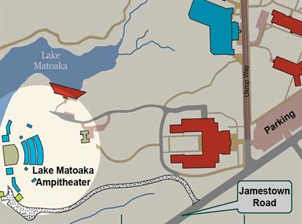 lake matoaka map