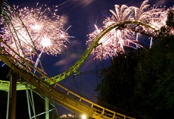 Busch Gardens Fireworks 4th of july