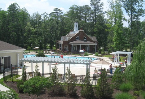 clubhouse pool complex at patriots landing new kent