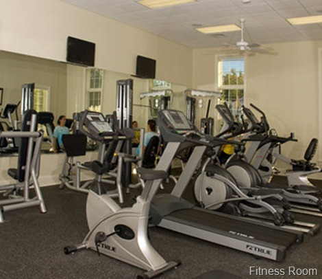 fitness room in the clubhouse , the settlement