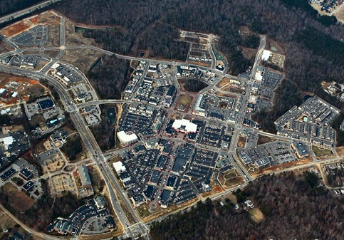 Aerial Photo of New Town , Williamsburg VA