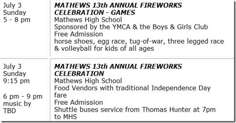 fireworks mathews va july 4th 2011