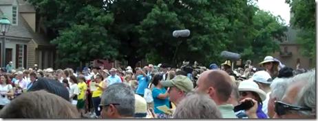 mormon tabernacle choir , flash mob in colonial williamsburg