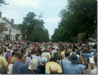 mormon choir in Colonial williamsburg