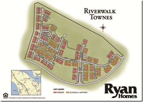 riverwalk townes siteplan