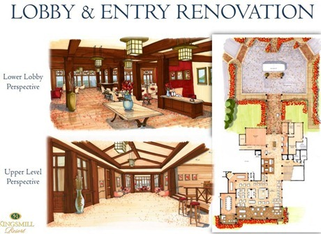 lobby and entry renovation at kingsmill