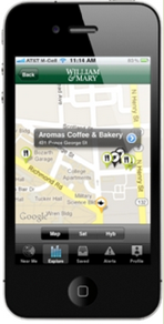 William & Mary faculty, students and staff can now be notified of special offers from local Williamsburg merchants by using their smartphone devices.