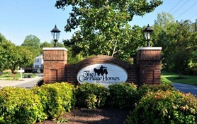 Entrance to the carriage homes