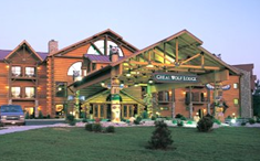 Great Wolf Lodge in Williamsburg, Virginia opened in March of 2005. The family resort and indoor water park offers family-sized guest suites and a 64,000 square-foot indoor entertainment area featuring a grand-scale waterpark, a spa, an arcade, and restaurants.