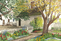 """Featured artist, Richard DePaul, has graciously donated an original watercolor, """"Spring Awakening."""" The original watercolor of """"Spring Awakening"""" as well as three framed prints will be raffled off at 4:30 pm the day of the show. Raffle tickets and commemorative posters will be sold at the JWCW Registration Tent"""