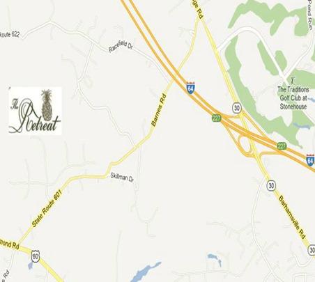 map location the retreat toano va