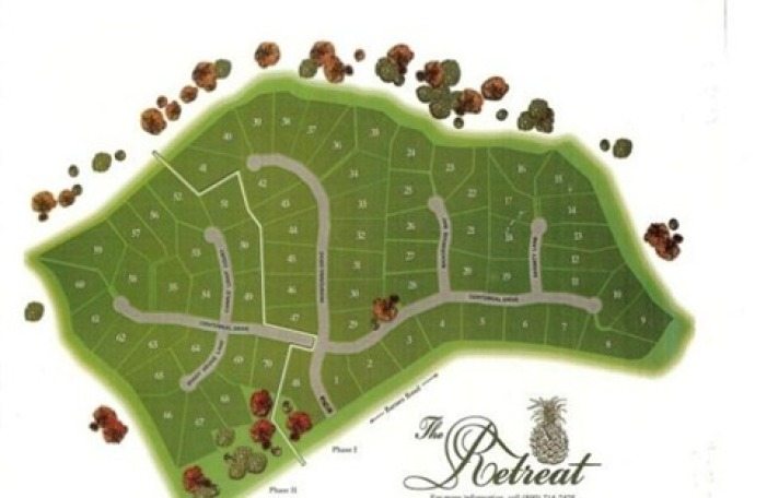 site plan for the retreat