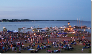 The Military Band Concert Series at Riverwalk Landing in historic Yorktown will be held Tuesday evenings, Aug. 7 through Aug. 28. 2012 Concerts will begin promptly at 6:30 p.m. Guests are encouraged to bring blankets and/or lawn chairs.