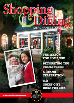 Merchants Square announces the launch of an inaugural eMagazine that provides readers with a window into the magic of the Square over the holidays. Filled with beautiful images of Merchants Square, gift ideas and fun suggestions for holiday entertainment, the interactive magazine can be viewed on a standard web browser or downloaded as an iPad application.The eMagazine allows viewers to see more facets of the picturesque shops and restaurants and link directly to their websites when something is of interest.