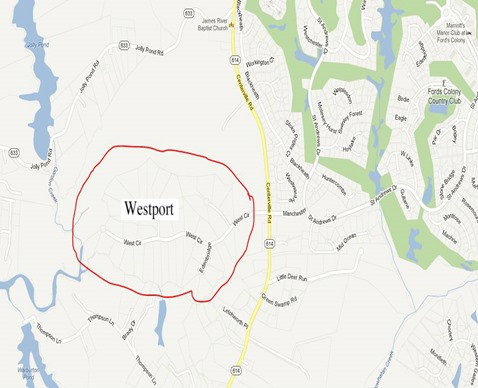 westport location map
