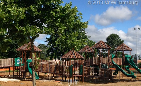 The renovation of Mid County Park, including the Kidsburg playground is well underway. Despite significant rains much progress has been made. The old Kidsburg structure was removed, and contractors have prepared the site and installation of the new playground structure is ongoing.