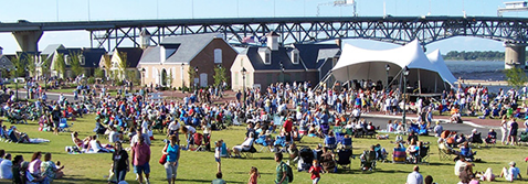 Military Band Concert Series at Riverwalk Landing in historic Yorktown VA.