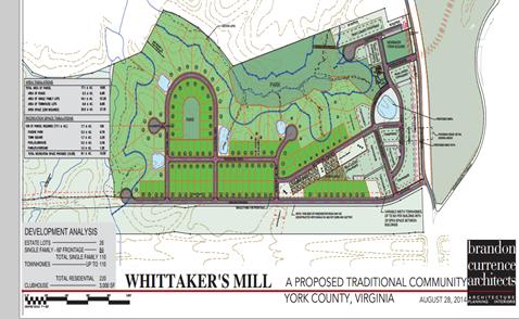 whittakers mill siteplan williamsburg va