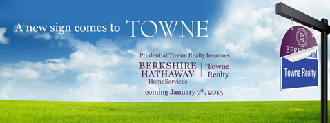 Prudential Towne Realty becomes part of the Berkshire Hathaway Home Services team. They will then be known as Berkshire Hathaway Home Services Towne Realty.